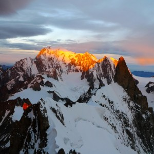 Mt.Blanc z vrha Aig. de Rochefort